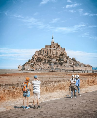Mont Saint Michel, atrativo na Normandia, no norte da França