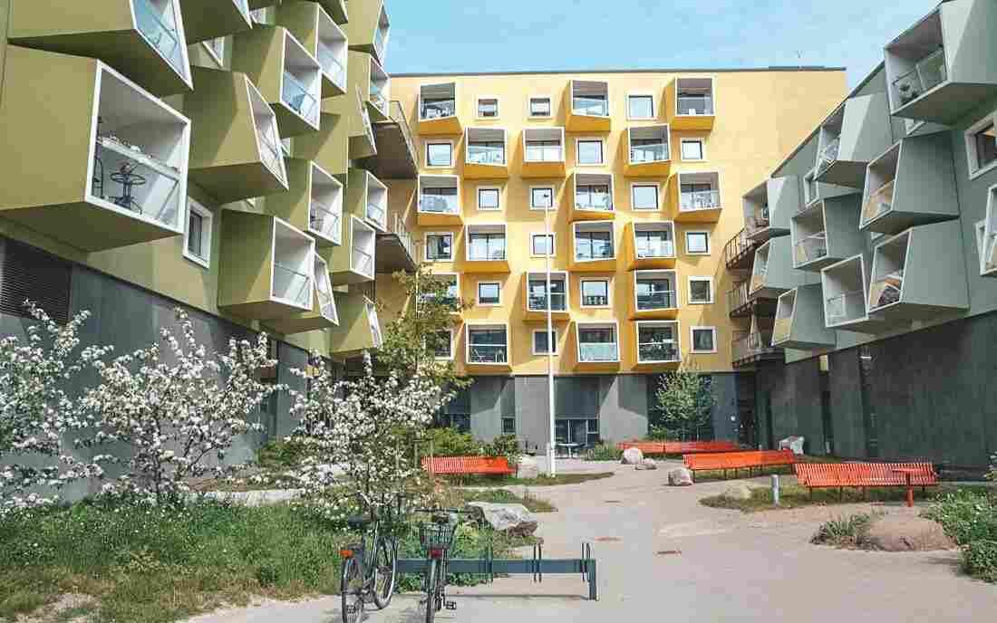 Arquitetura em Copenhague: residencial para idosos de Orestad, do escritório JJB