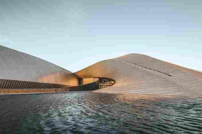 Arquitetura em Copenhague: aquário Den Bla Planet