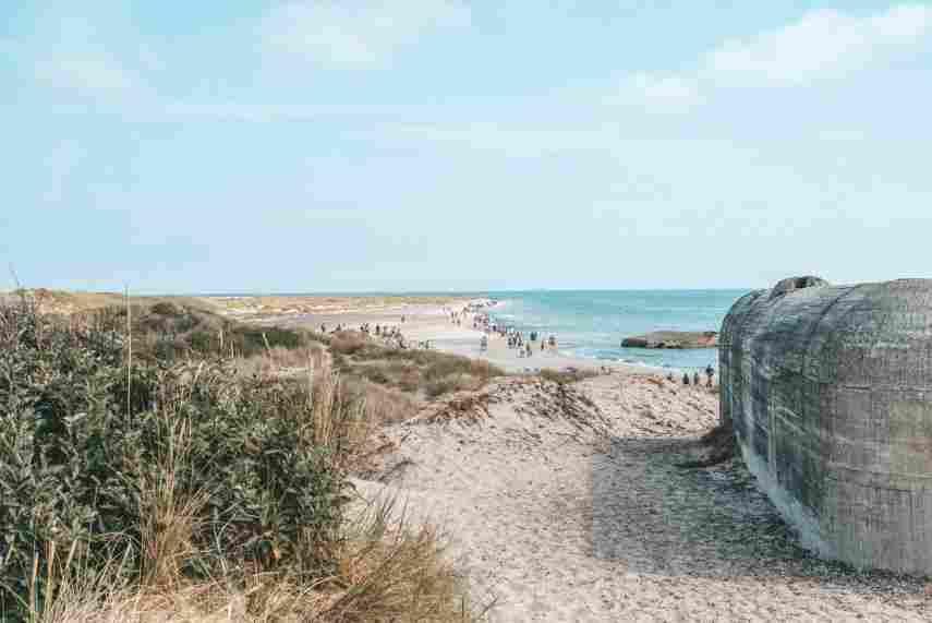 Faixa de areia mais ao norte da Dinamarca. Faixa de Grenen.