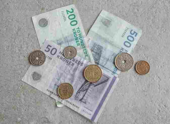 Moeda na Dinamarca, que moeda levar para copenhague