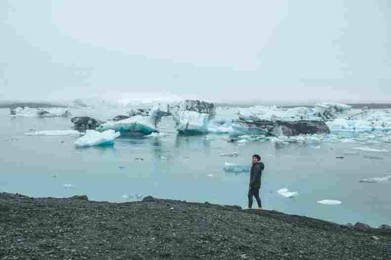 Lago Jökulsárlón, no sul da Islândia