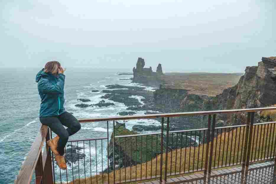 Falésias de Londrangar, no norte da Islândia.