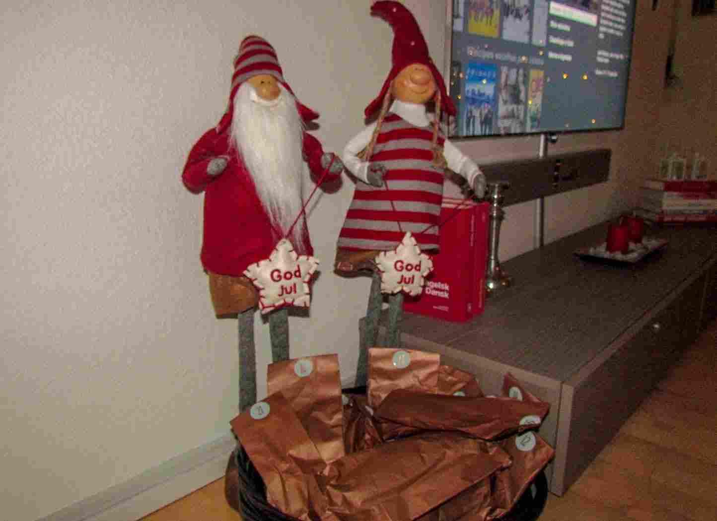 Natal na Dinamarca: pakkekalendar