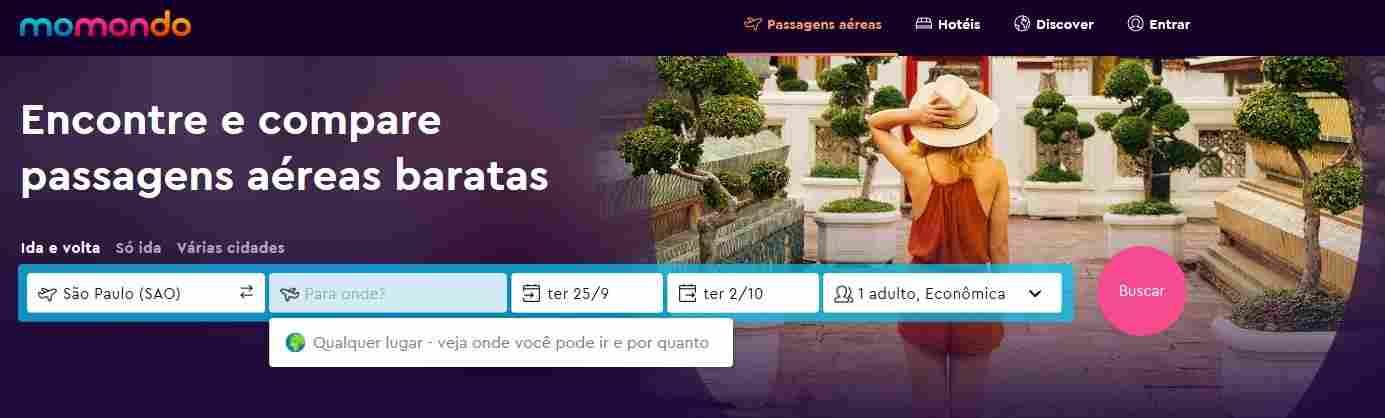 Deixar o destino em aberto pode ajudar a encontrar passagens aéreas baratas