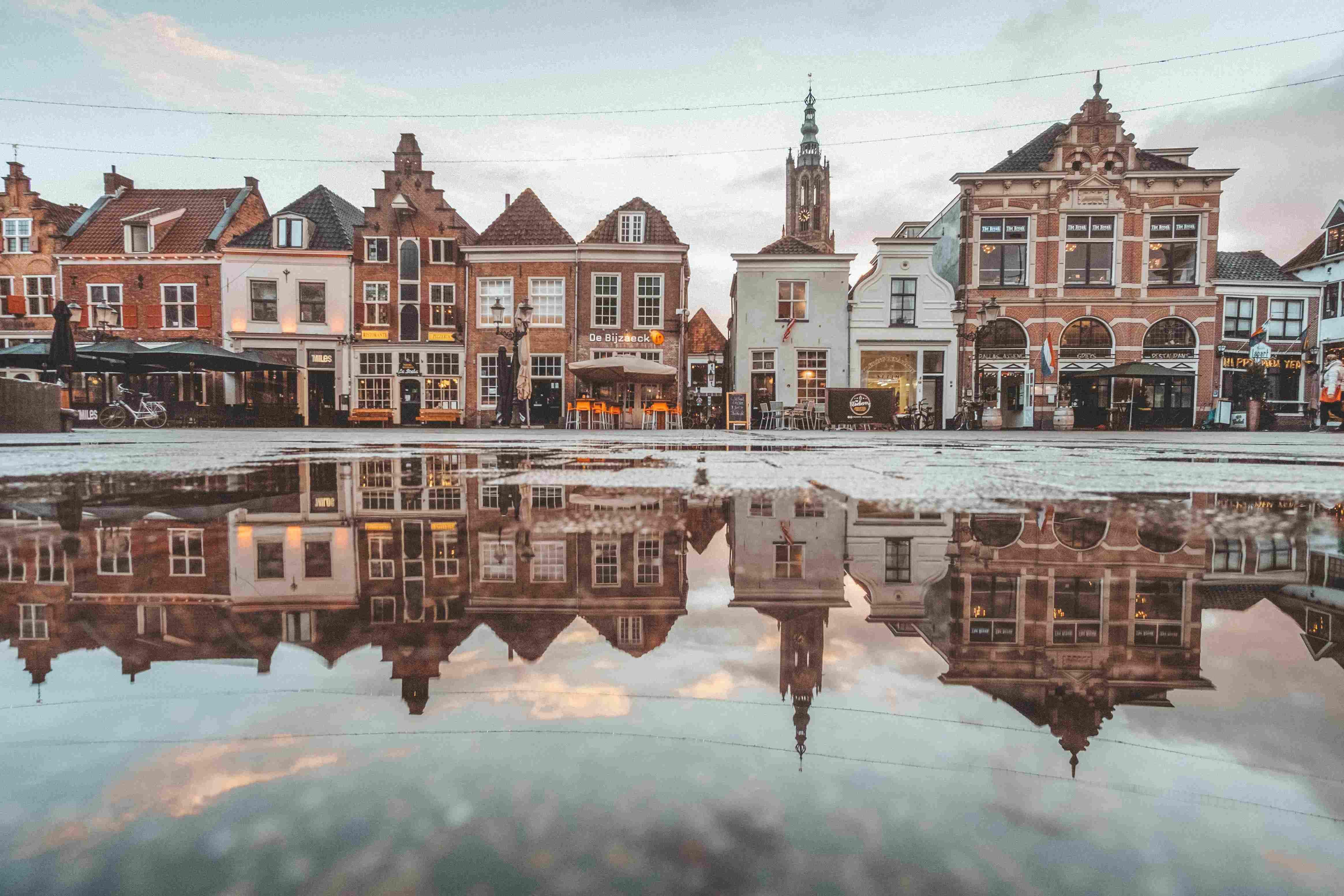 Arquitetura típica na Holanda