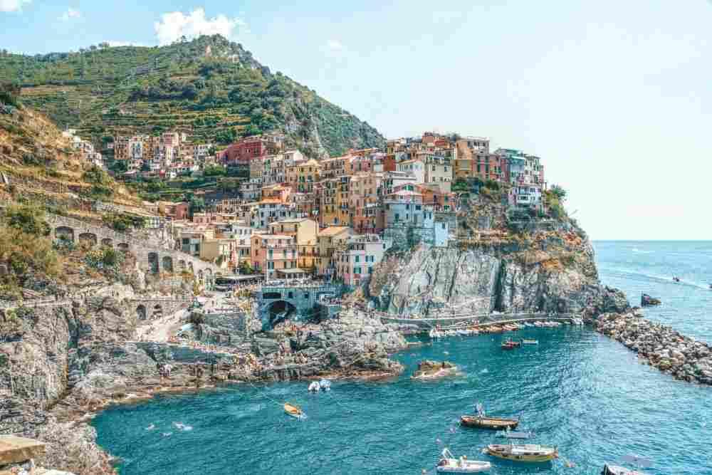 Manarola, um dos vilarejos de Cinque Terre, na Italia