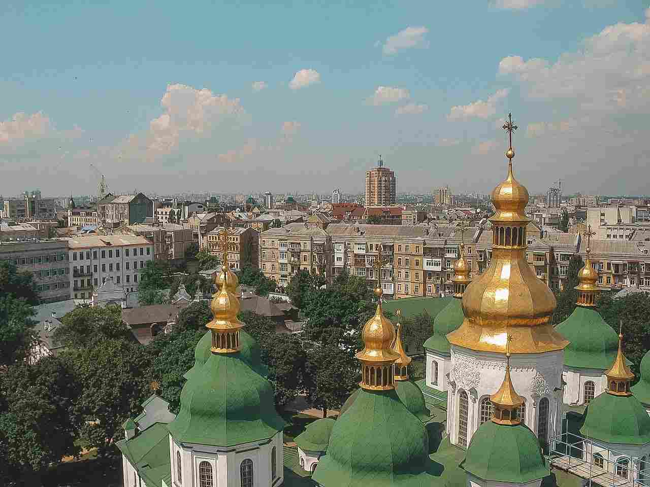 Kiev, no extremo oriente do continente europeu