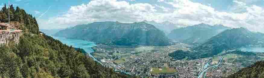 A beleza singular dos arredores de Interlaken faz deste um destino próprio para muitas atividades na natureza