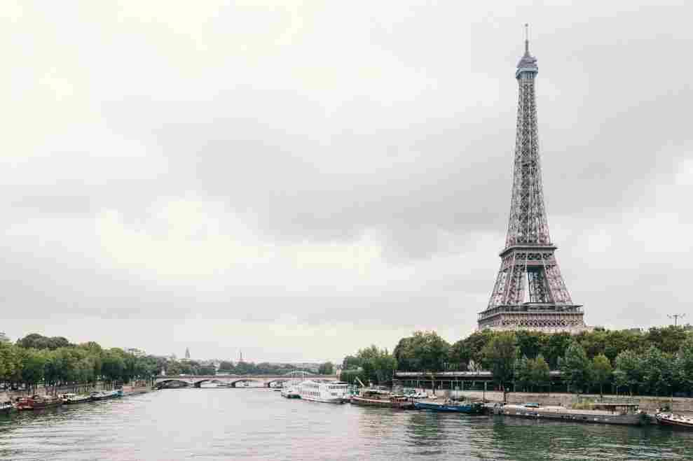 Torre Eiffel no cenário de Paris