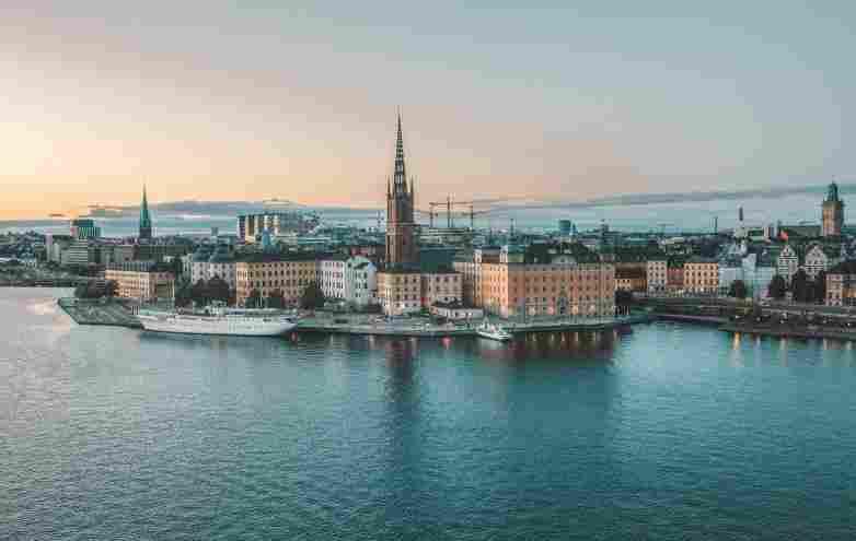Vista panorâmica da ilha de Estocolmo