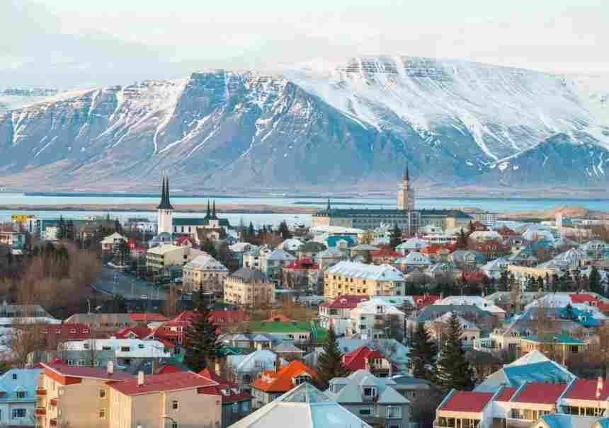 vista da cidade de Reykjavík