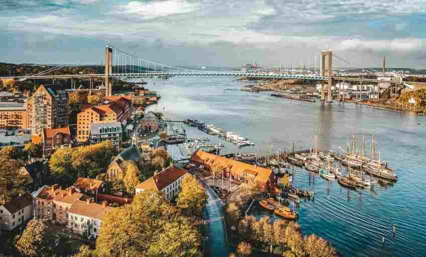 Vista de cima da cidade de Gotemburgo